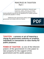 Intro to General Principles in Taxation