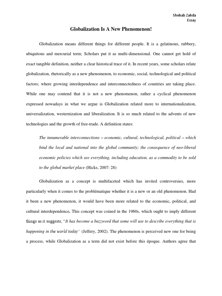 argumentative essay economic globalization