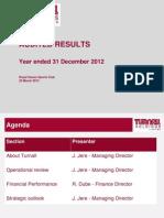 Turnall F2012 Presentation