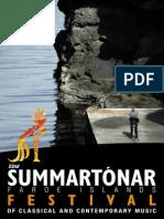 SUMMARTÓNAR Festival for contemporary music Faroe 2013