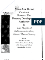 Private Use Permit Between the Forestry Development Authority and the People of Sallouyou Section, Grand Bassa County