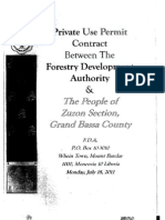Private Use Permit Between the Forestry Development Authority and the People of Zuzon Section Grand Bassa County