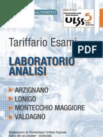 Tariffario Esami Lab Analisi