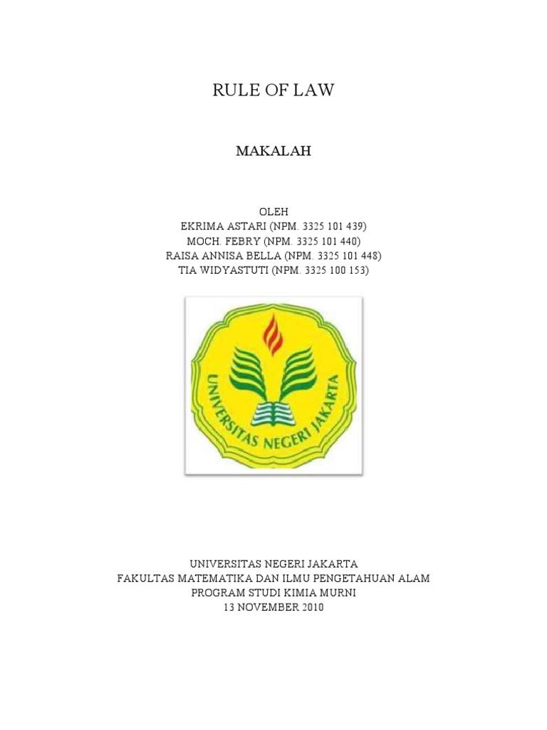 Pkn Makalah Rule Of Law