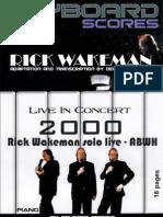 Rick Wakeman Solo Live Piano