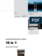 SilverCrest 10in1 Remote Control Manual