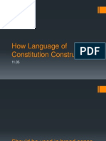 How Language of Constitution Construed