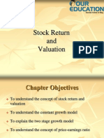 Stock Return and Valuation