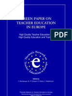 Green Paper on TE in Europe