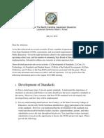 Common Core letter to DPI