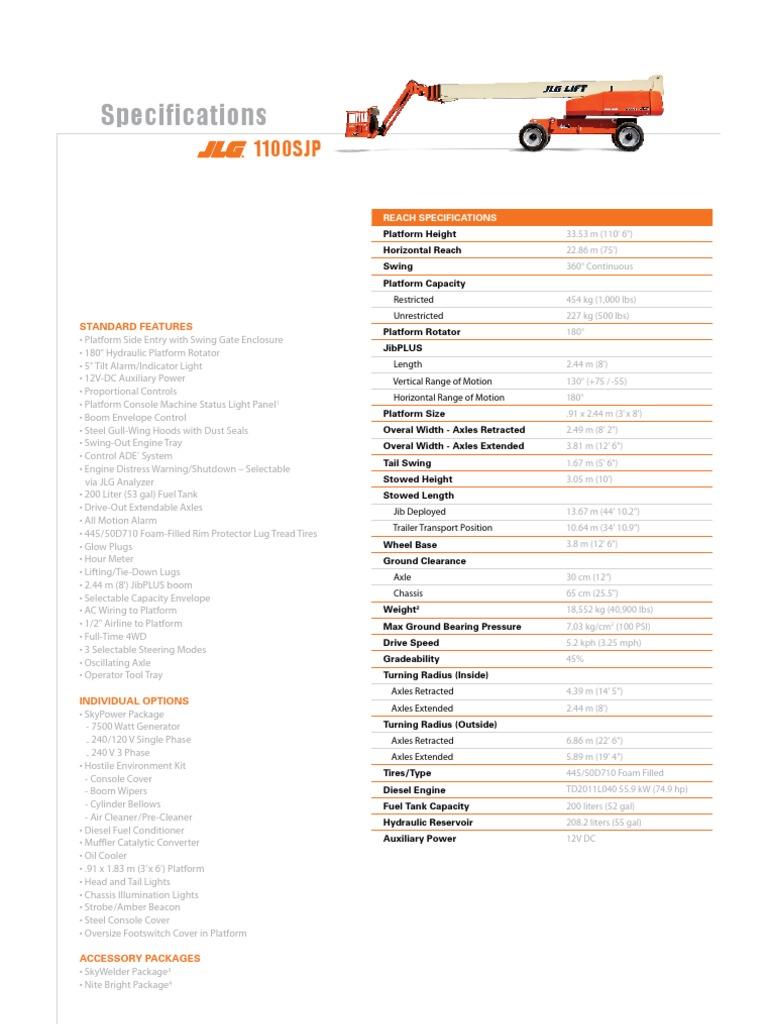 Jlg 60ha Wiring Diagram Electrical Diagrams 1100sjp Spec Axle Forklift