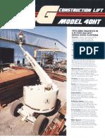 JLG Model 40HT Boom Lifts