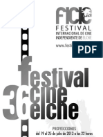 36 Festival Internacional de Cine Indpendiente de Elche. Papeleta Votación.