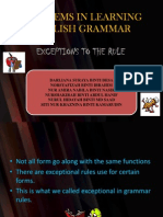 Problems in Learning English Grammar