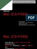 Why Mscfoss