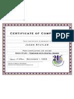 Book Study Certificate