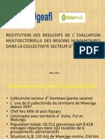 Présentation Evaluation Itombwe