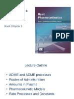 יסודות בפרמקוקינטיקה - פרמקוקינטיקה 1  הקדמה, ADME ומודלים פרמקוקינטיים