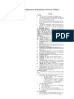 Resumo Esquemático de Direito Processual do Trabalho - PROVAS.