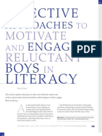 Effective Approaches to Moitvate and Engage Reluctant Boys in Literacy