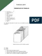 norma abnt - estrutura e organização dos trabalhos academicos