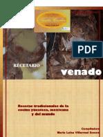RECETARIO VENADO MLVS