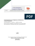 Caracterización de Aceros Empleados en la Industria del concreto premezclado