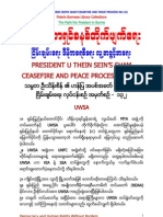 President U Thein Sein's Sham Ceasefire and Peace Process No.132