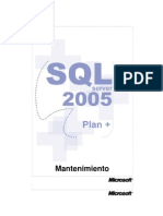 Manual SQLServer2005 Mantenimiento