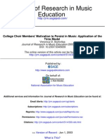 College Choir Members' Motivation to Persist in Music