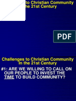 Challenges to Community