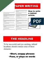 Newspaper Writing