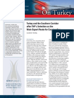 Turkey and the Southern Corridor after TAP's Selection as the Main Export Route for Caspian Gas