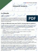 LaTeX Para El Absolutamente Inexperto