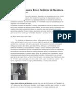 Dos textos de Juana Belén Gutiérrez de Mendoza