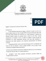 UBI Costituzione Commissione 8x1000 2013
