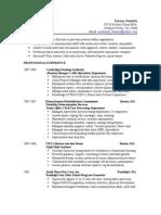 Administrative Resume 2009