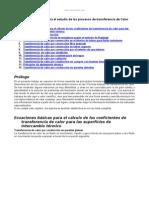 Formulario Breve Estudio Procesos Transferencia Calor