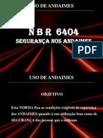 manual montagens de andaimes - NBR 6404.ppt
