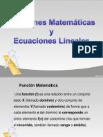Funciones Matematicas y Ecuaciones Lineales