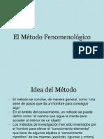 El Método Fenomenológico