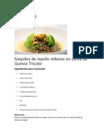 Recetas Con Quinua - Tomo I