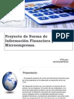 Proyecto de Norma de Informacion Financiera Micro