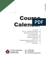 St John Ambulance Course Calendar