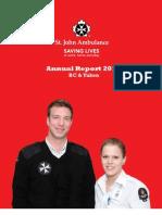 St John Ambulance BC & Yukon Annual Report 2012