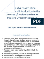 Set Up of a Construction Business