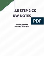 Uworld Step 2 CK Notes