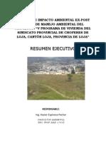 Resumen Ejecutivo v Programa de Vivienda Del Sindicato de Choferes de Loja
