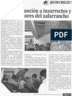 Ejemplar Sancion a Isurrectos y Alborotadores Del Zafarrancho-Q