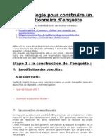 25043252 Methodologie Pour Construire Le Questionnaire d Enquete